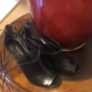 MICHAEL KORS Leather Lace Up Heels Sandals.SIZE 37